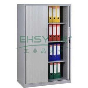 卷门柜-2,900宽*440深*1458高,灰白色,0.7mm厚度