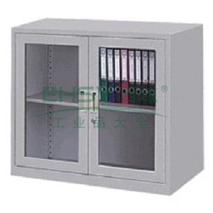 玻璃开门柜,900宽*400深*900高,图片色,0.7mm厚度