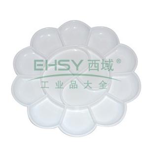 得力大号调色碟,白色  9403