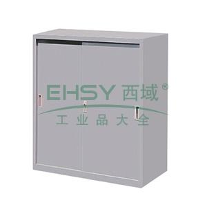 移门柜,900(W)x400(D)x740(H) 灰白