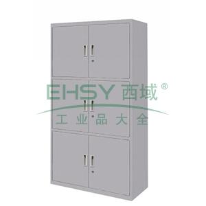 三节开门柜,900(W)x400(D)x1800(H)灰白 仅限上海