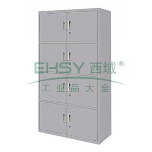 四节开门柜,900(W)x400(D)x1800(H)灰白 仅限上海
