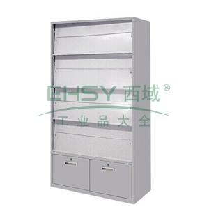 斜体开门期刊柜,900(W)x400(D)x1800(H)灰白 仅限上海