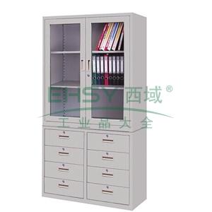 理想组合柜,900(W)x400(D)x1800(H)(上节1060H,下节740H)灰白