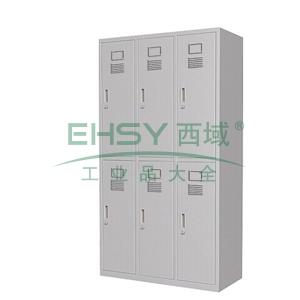上下六门更衣柜,900(W)x500(D)x1800(H)仅限上海