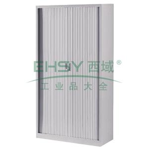 卷帘柜,900(W)x400(D)x1800(H)附4层隔板,灰色
