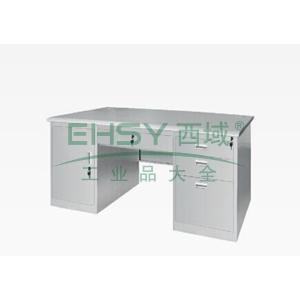 平面写字桌,1400(W)x700(D)x740(H)灰白色