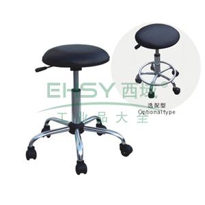 科高 防静电椅,PU皮革,椅座Φ360mm,无靠背,高度可调440-580mm,COS-105