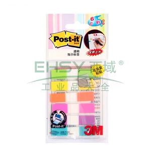 3M Post-it® 指示标签, 20片X6色 荧光色 挂装 683-6CF,单位:包