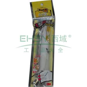 3M Post-it®报事贴,指示标签圆珠笔 伸缩式, 黑色 692-BK
