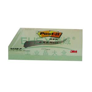 3M Post-it®便条纸,合宜系列 655B-P 绿色 100页/本 115*76mm 办公装