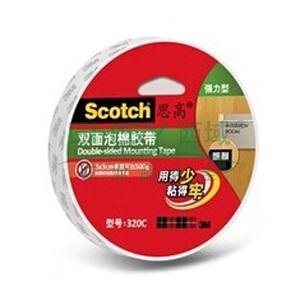 3M思高双面泡棉胶带,320C - 18MM*5.5M