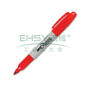 三福永久性记号笔,2mm 红色