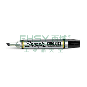三福 方嘴记号笔,5mm-8mm 黑色 单支