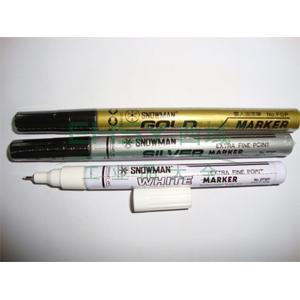 雪人 极细记号笔,油性记号笔,线幅0.5mm 金色 单支