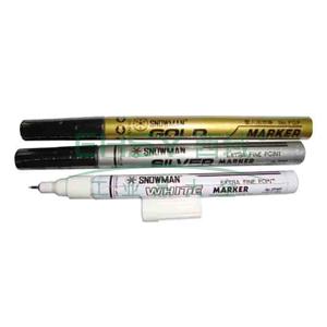 雪人 极细记号笔,油性记号笔,线幅0.5mm 银色 单支