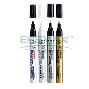 雪人 特粗记号笔,油性记号笔,线幅1.5-3mm 金色 单支