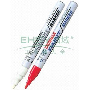 雪人 特粗记号笔,油性记号笔,线幅1.5-3mm 白色单支