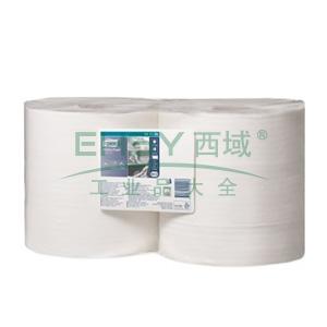 多康 高级擦拭纸大卷式,白色 (400*245mm 1150张) 460米/卷  2卷/袋