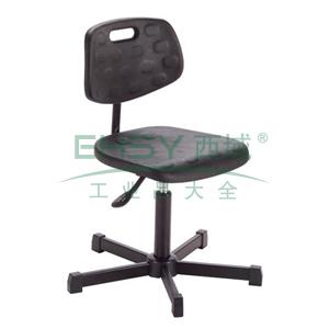 迈确尔带靠背工作椅,黑色聚氨酯坐垫和靠背 高度调幅420-560 mm