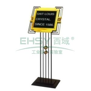 斜面指示牌,L560*W510*H1450,钛金