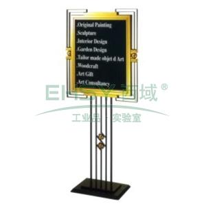 斜面指示牌,L810*W690*H1620,钛金