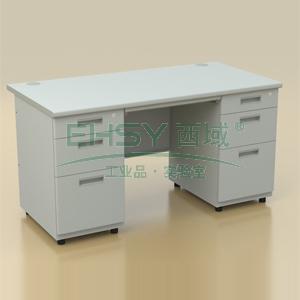 钢制写字台,双边桌1400*700*740mm