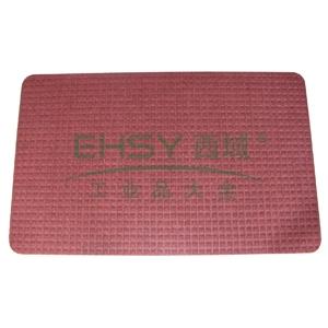 除尘晶钻素面地垫,1.2m*12m,红色