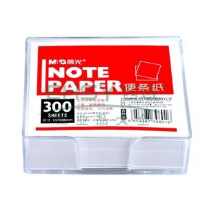 晨光 M&G 80300盒装便签纸 APYGZ607 107*96mm (白色) 300张/盒