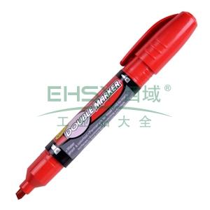 晨光 M&G 大双头记号笔 MG-2110 粗头5.0mm,细头2.0mm (红色) 12支/盒