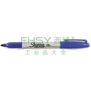 三福经济型永久性记号笔,精细1mm 蓝色