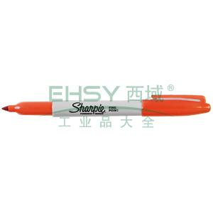 三福经济型永久性记号笔,精细1mm 橙色