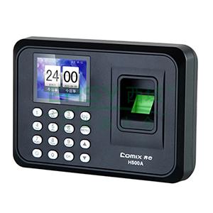 齐心 H500A 指纹考勤机 免软件免安装彩屏 黑