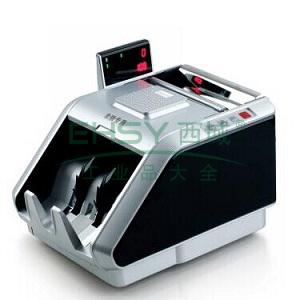 齐心 JBYD-6188(B) 超级抓假王点钞机 验钞机 单屏5磁头10红外 黑银