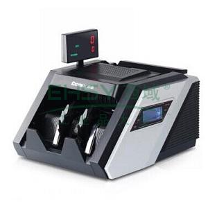 齐心 JBYD-6688(B) 大总管智能语音点钞机 验钞机 双屏5磁头8对红外 黑银