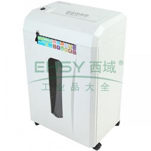 齐心 S330 强力保密型碎纸机 2×12mm/8张纸/17L/单入口/续航10min 白