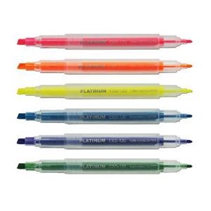 白金 CSD-120 双头荧光笔 1mm&4mm线幅 紫色