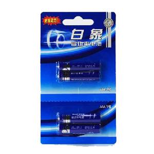 白象 G716(2+2)D  P型电池 7号、4粒/卡