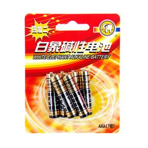 白象 9403-6DA7号碱性电池 6粒一卡