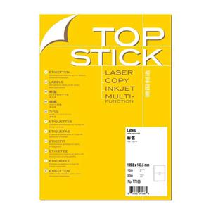 顶贴 T7168 打印标签 2个/张100张/包 199.6*143.5MM 白