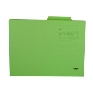 东迅 DX-F40 纸制单耳文件夹 A4 绿色
