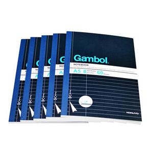 渡边(Gambol)WCN-G560MK无线装订易撕分栏本A5 60页 湖蓝色