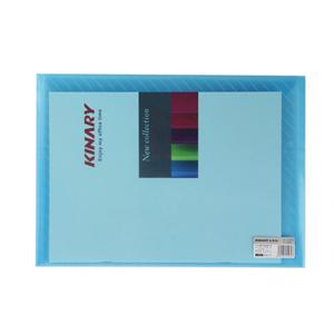 金得利 FB330 文件袋 文件套 透明蓝色