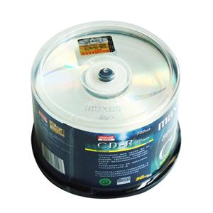 麦克赛尔 CD-R 光盘 700MB/48X(50片筒装) 银色