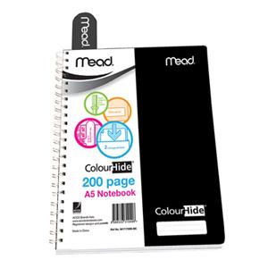 美德  M1717699-BK ColorHidePP螺旋本  A5 200页