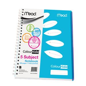 美德  M1715899-BE ColorHide5主题螺旋本  A4 250页