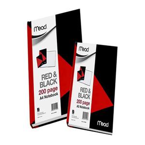 美德  M18960 红黑色硬面胶状本  A4/200页