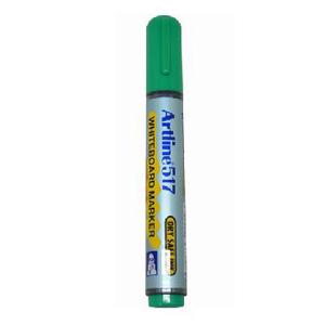Artline旗牌 新款防干白板笔EK-517 圆头 绿色