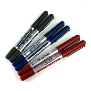三菱 uni 直柱式耐水性走珠笔, UB-150 0.5mm (蓝色) 单支