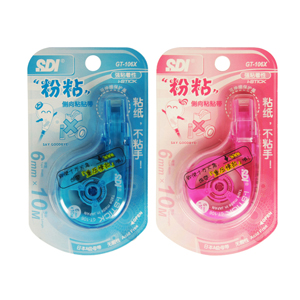 手牌 GT-106X 10米侧向黏贴带 粉红/粉蓝